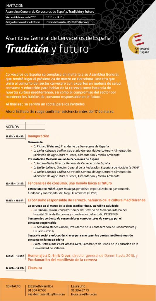 Invitación Asamblea General 14.03.17